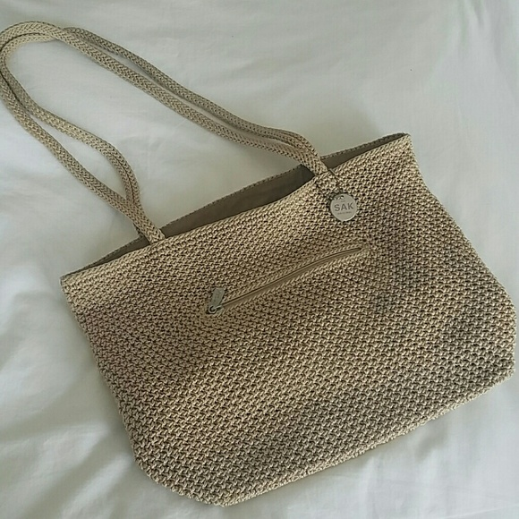 "The Sak Handbags - Original 14""x10# the sak crocheted bag"